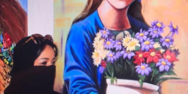 التشكيلية جيهان الهلالي في معرض ألوان شرقية