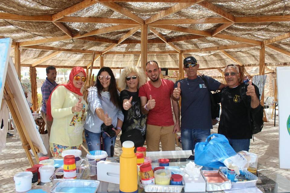 ملتقى الألوان في مهرجان دهب المصرية