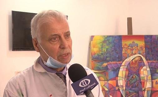 الفنان التشكيلي فايز الحسني رئيس لجنة المهرجان