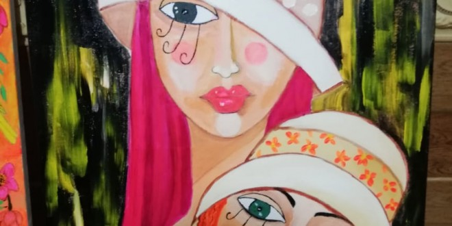 التشكيلية زينب مسلماني